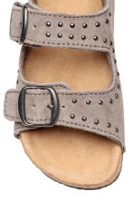 Suede sandals - Grey beige - Kids | H&M CN 3