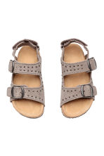 Suede sandals - Grey beige - Kids | H&M CN 2