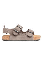 Suede sandals - Grey beige - Kids | H&M CN 1