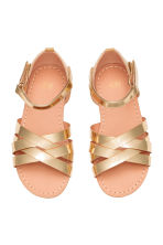 Shimmering metallic sandals - Gold - Kids | H&M CA 3