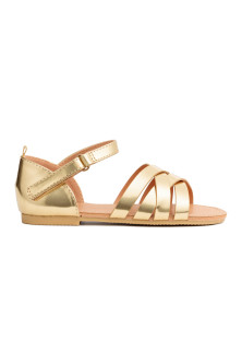 Shimmering metallic sandals