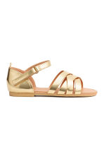 Shimmering metallic sandals - Gold - Kids | H&M CA 2