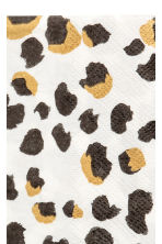 Servilletas de papel - Blanco/Estampado de leopardo - HOME | H&M ES 2
