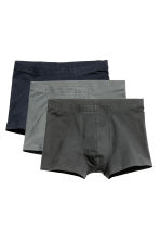 3-pack boxer shorts - Dark blue/Grey - Men | H&M CN 1