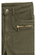 Stretch trousers - Dark khaki green - Ladies | H&M CN 4