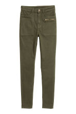 Stretch trousers - Dark khaki green - Ladies | H&M CN 2