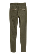 Stretch trousers - Dark khaki green - Ladies | H&M CN 3