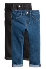 2-pack Slim Fit Jeans - Denimblå/Svart -  | H&M FI 2