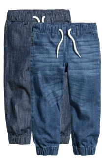 2-pack denim joggers