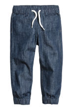 2-pack denim joggers - Denim blue/Dark denim blue - Kids | H&M CN 3