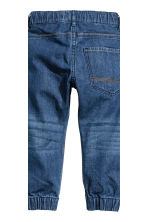2-pack denim joggers - Denim blue/Dark denim blue - Kids | H&M CN 5