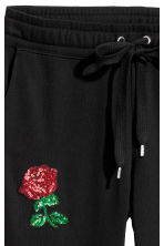 Joggers con ricami - Nero/rose - DONNA | H&M IT 3