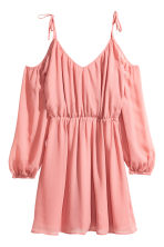 Chiffon dress - Coral pink - Ladies | H&M 2