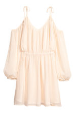 Chiffon dress - Natural white - Ladies | H&M CN 2