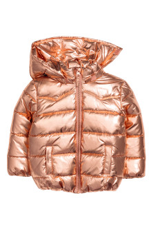 Padded jacket with a hood