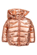 Padded jacket with a hood - Gold-coloured -  | H&M CN 2