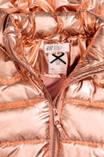 Padded jacket with a hood - Gold-coloured -  | H&M CN 3