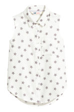 Sleeveless blouse - White/Stars - Kids | H&M 2
