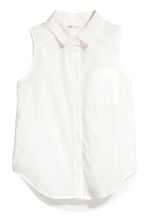 Sleeveless blouse - White -  | H&M 2