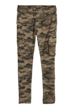 Elasticated cargo trousers - Khaki/Patterned - Men | H&M CN 2