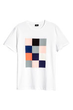 T-shirt with a print motif - White - Men | H&M CN 2