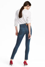 Skinny High Ankle Jeans - Dark denim blue - Ladies | H&M CA 4