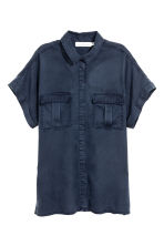 Lyocell utility shirt - Dark blue - Ladies | H&M 2