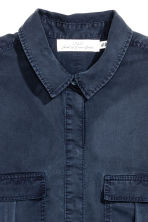 Lyocell utility shirt - Dark blue - Ladies | H&M 3