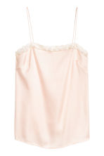 Strappy top with lace - Powder pink - Ladies | H&M CN 2