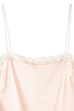 Strappy top with lace - Powder pink - Ladies | H&M 3