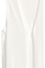 Ribbed gilet - White - Ladies | H&M CN 3