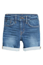 Super Soft Denim shorts - Denim blue -  | H&M 3