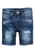 Superstretch denim shorts - Dark denim blue - Kids | H&M 2