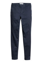 Cotton chinos - Dark blue - Ladies | H&M 2