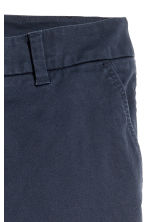 Cotton chinos - Dark blue - Ladies | H&M 3