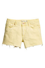 Denim shorts - Light yellow - Ladies | H&M CN 2