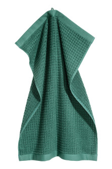 Check-weave hand towel