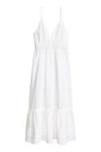 Long cotton dress - White - Ladies | H&M CN 2