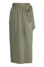 Lyocell wrapover skirt - Khaki green -  | H&M 2