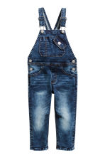 Denim dungarees - Dark denim blue - Kids | H&M 2