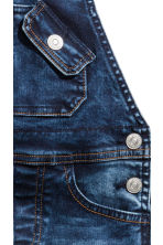 Denim dungarees - Dark denim blue - Kids | H&M 4
