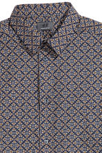 Premium cotton shirt - Dark blue/Patterned - Men | H&M CN 3