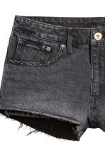 Denim shorts Low Waist - Dark grey denim - Ladies | H&M 4