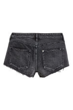 Denim shorts Low Waist - Dark grey denim - Ladies | H&M 3