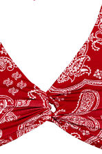Halterneck bikini top - Red/Paisley - Ladies | H&M 3