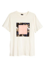 T-shirt with a print motif - Natural white - Men | H&M CN 2