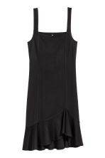 Jersey dress with a flounce - Black - Ladies | H&M CA 2