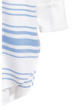 寬版長衫 - White/Blue striped -  | H&M 3