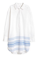 寬版長衫 - White/Blue striped -  | H&M 2