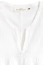 Cotton top with pin-tucks - White -  | H&M CA 3